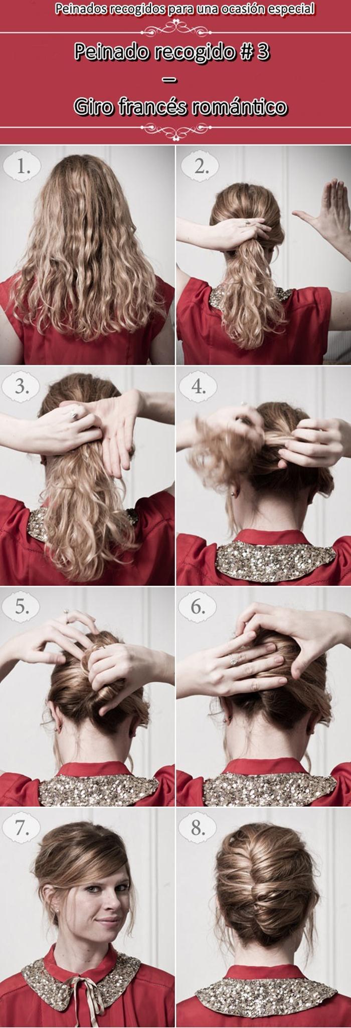 que al ver la imagen lo podrn hacer si tienes un buen tacto creando peinados recogidos seguramente no tardaras mucho en terminarlo vean la imagen
