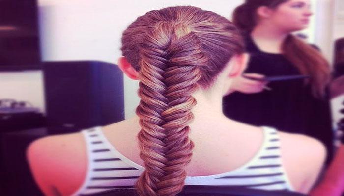 peinados sencillos espina de pescado