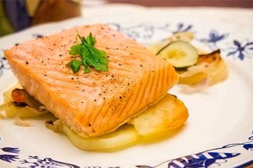 receta de salmón al horno