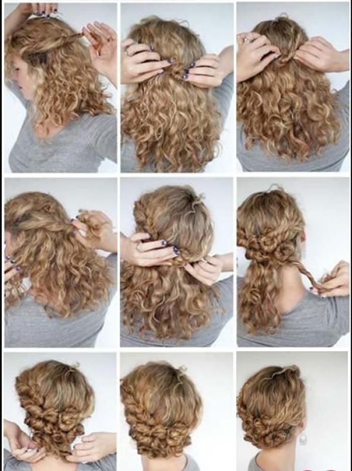Recogido simple para cabellos rizados