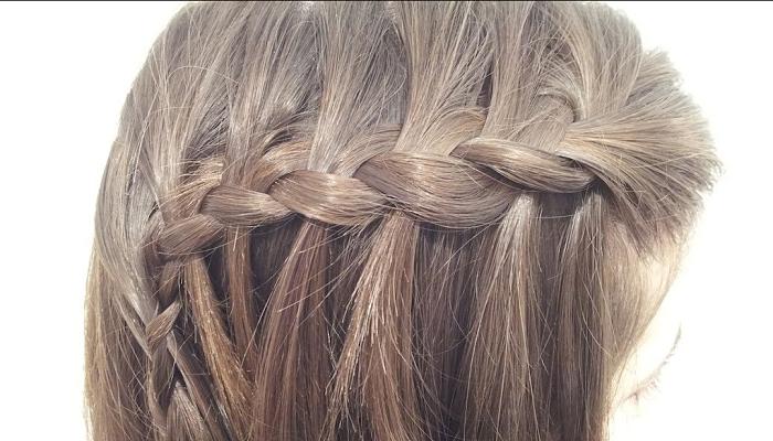 Peinado con trenzas para cabello liso 2