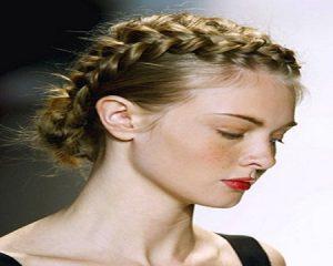 trenzas en cabello corto doble