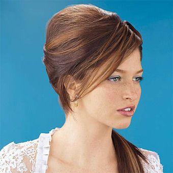 peinados para cabello lacio moño
