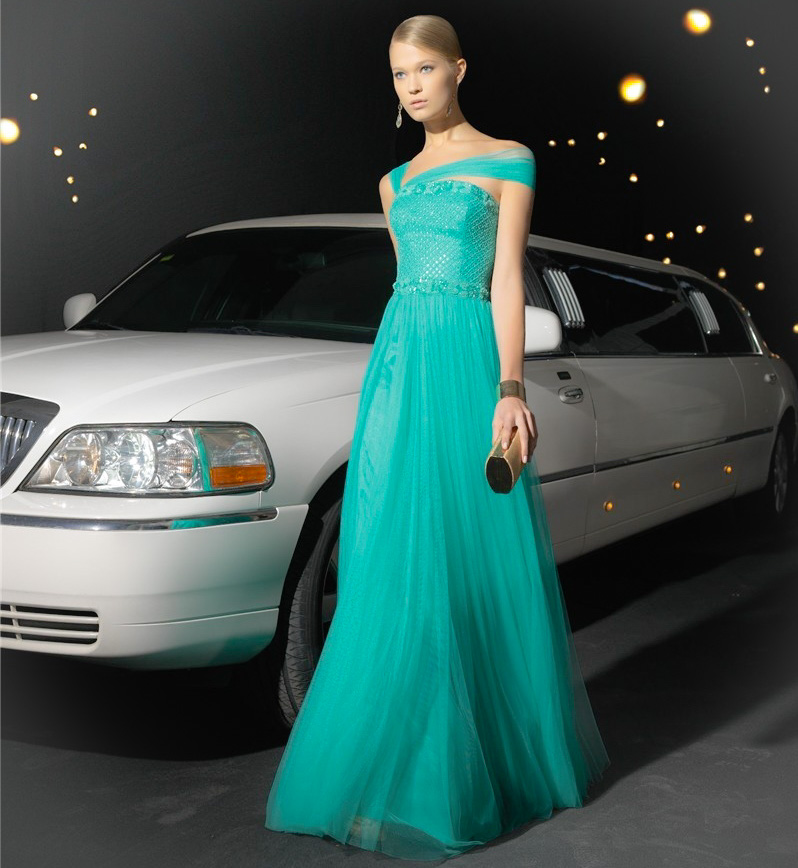 Vestidos modernos para una boda de noche