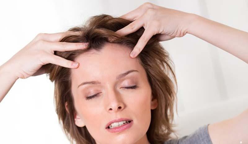 caida del cabello masajes
