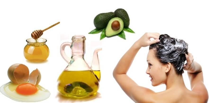 La vitamina y y e para los cabellos de la máscara la aplicación
