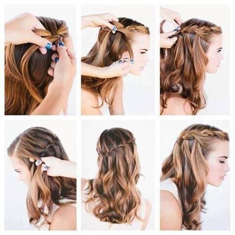 8 peinados semirecogidos paso a paso muy fáciles de hacer