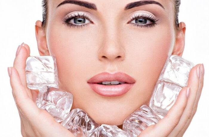 terapias faciales con hielo