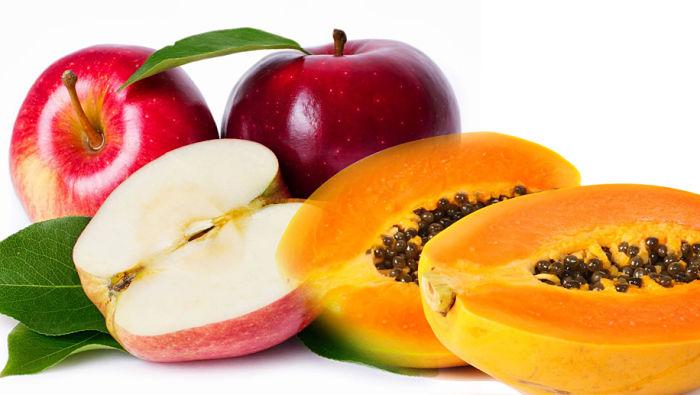 manzana y papaya para la colitis