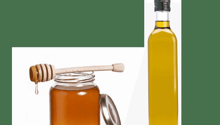 aceite de oliva y miel para el cabello maltratado