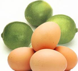 Huevos y jugo de limón para la caída del cabello