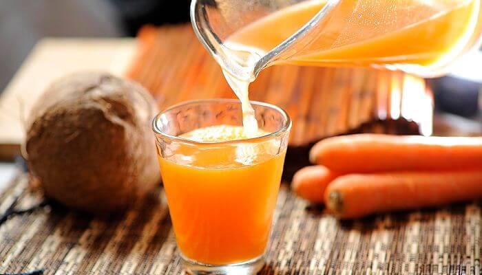 zanahoria y coco para prevenir la caída del cabello