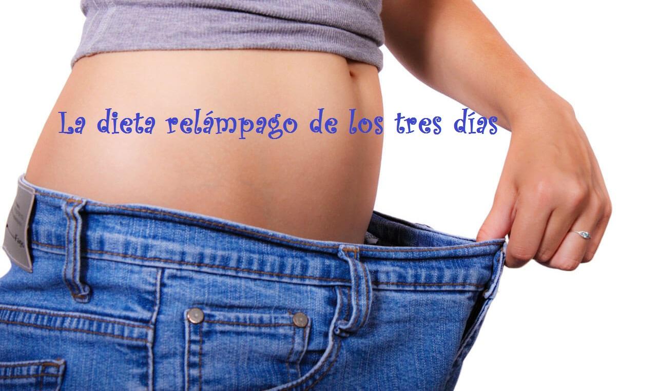 La dieta relámpago de los tres días