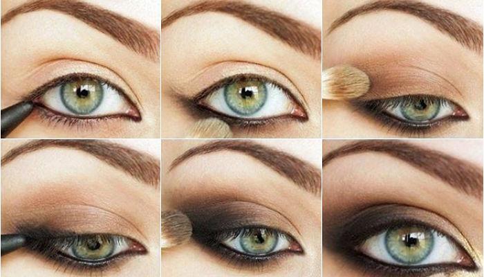 como maquillarse los ojos ahumados de dia