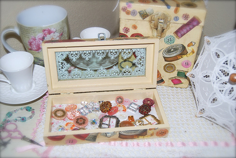 decoración de cajas de madera