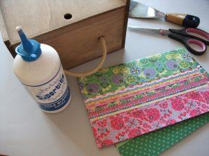 como hacer decoracin de cajas de madera con decoupage