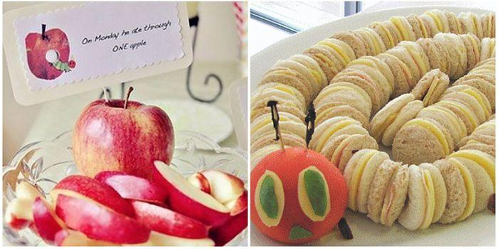 frutas para decorar baby shower niña