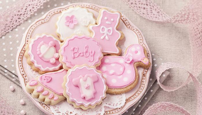 galletas para decorar baby shower niña