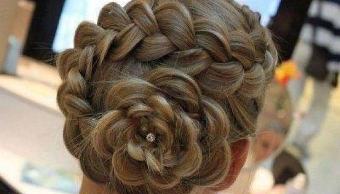 peinado en trenza de flor paso a paso