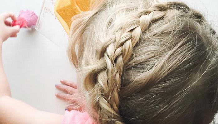 peinados al estilo milkmaid para las niñas