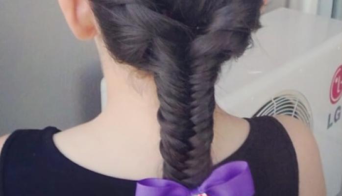 peinado espiga para las niñas