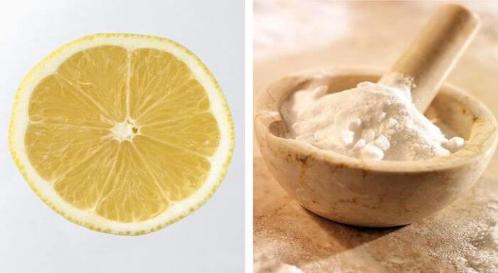 bicarbonato y limón para blanquear los dientes