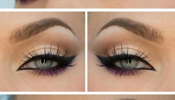 delineado para maquillaje de ojos verdes