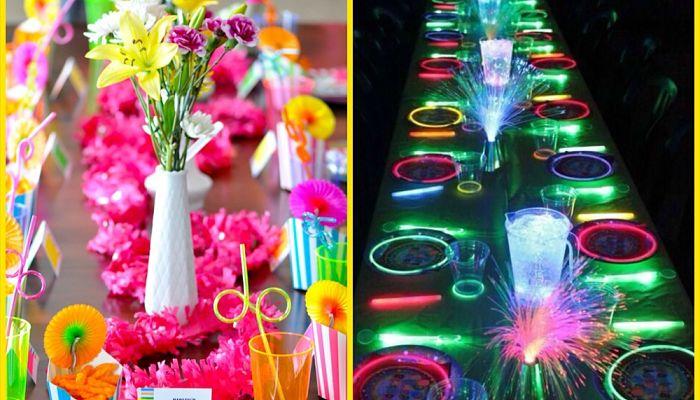 manteleria para fiesta de 15 años neon