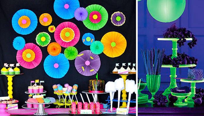 catering para fiesta de 15 años neon