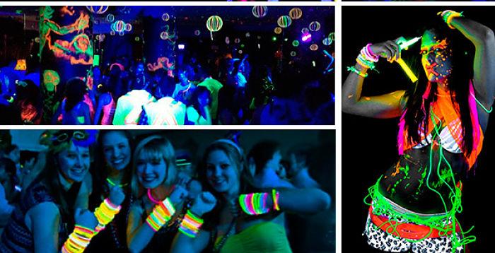 hora loca en fiesta de 15 años neon