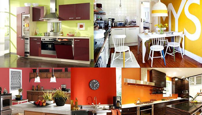 paredes de color cítrico para tu cocina