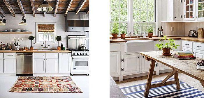 decorar con alfombra la cocina