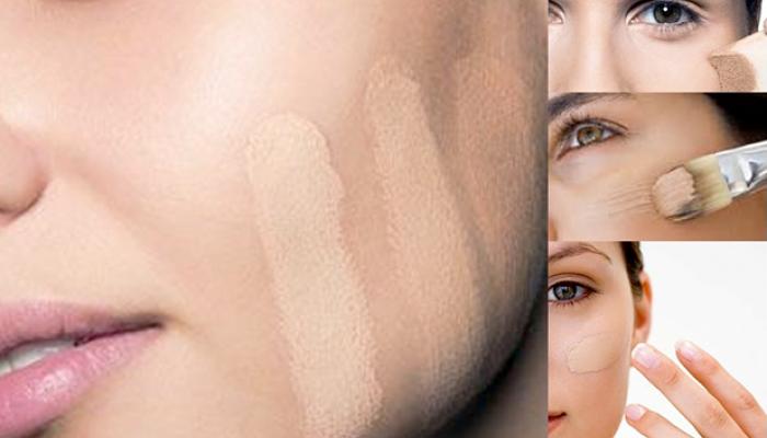 aplica base de maquillaje para la piel grasa