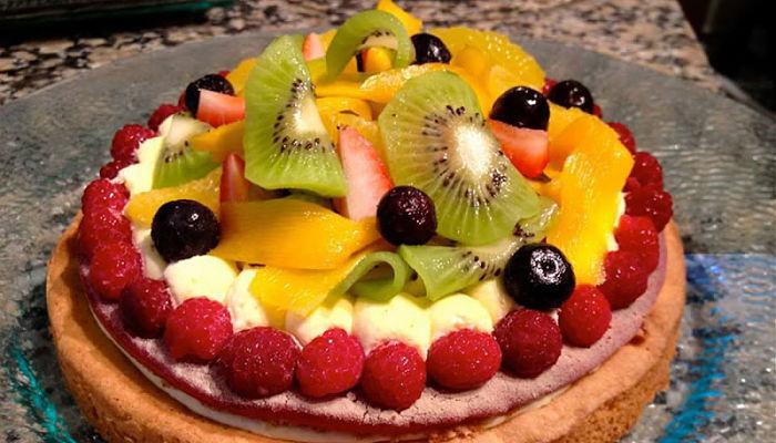 decoracion con frutas para tortas