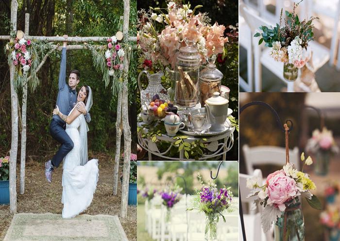 Ideas en adornos para bodas en jard n bell simos for Adornos metalicos para jardin