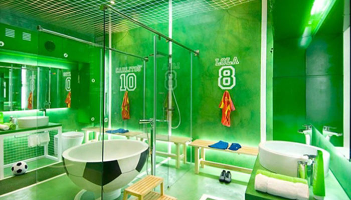 decora el baño con estilo futbolistico