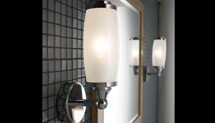 decora con lamparas el baño