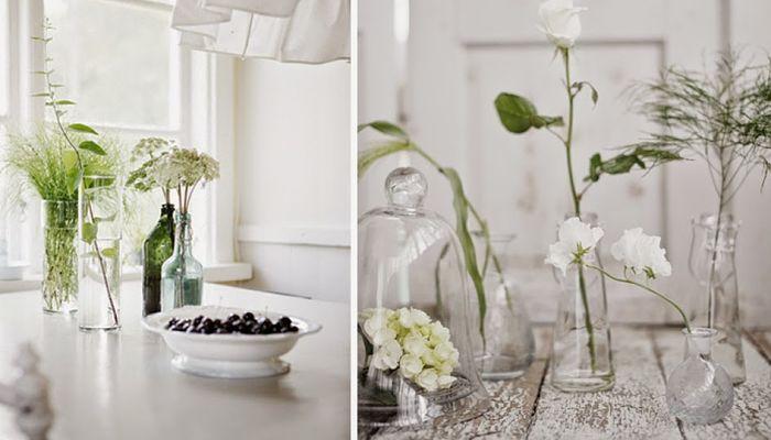 flores para decorar el comedor