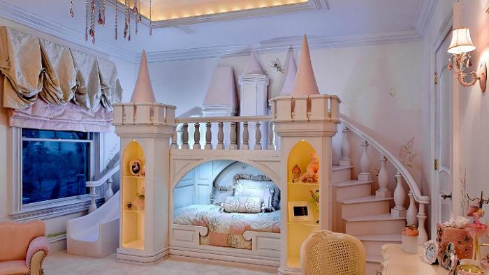 tematica de castillo para habitacion infantil