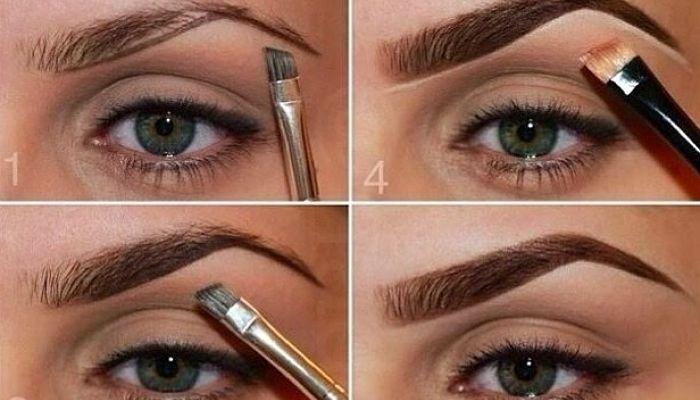 maquilla las cejas en el maquillajes de ojos hundidos
