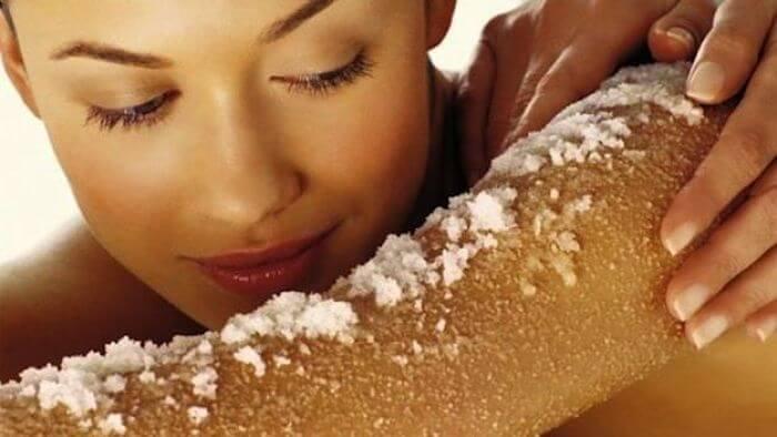 sal para exfoliar la piel