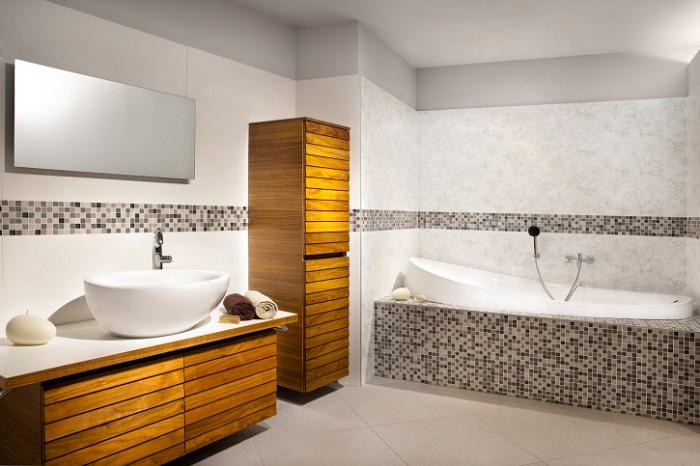 decoración de cuartos de baño en colores claros
