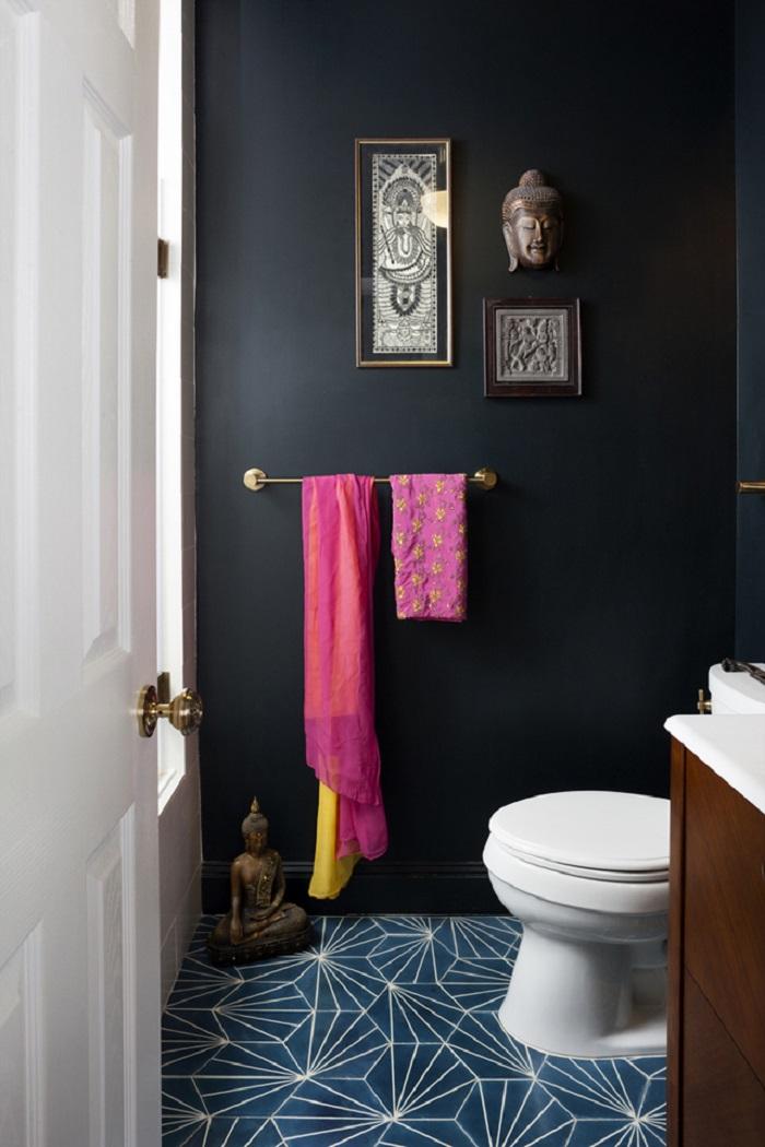 decoración de cuartos de baños con elementos