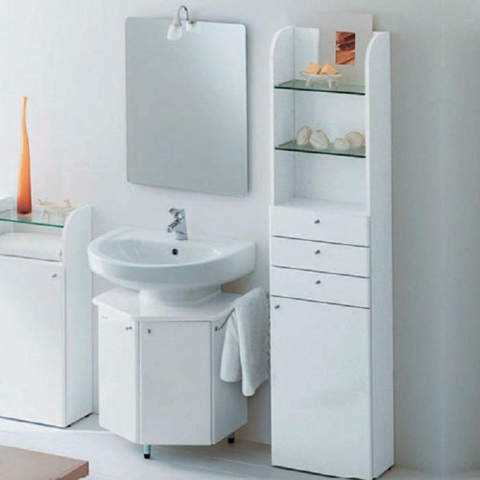 decoración de cuartos de baño blanco