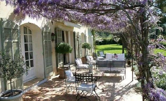 decoración de terrazas y jardines vintage