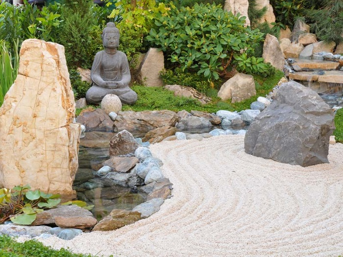 decoración de terrazas y jardines feng shui