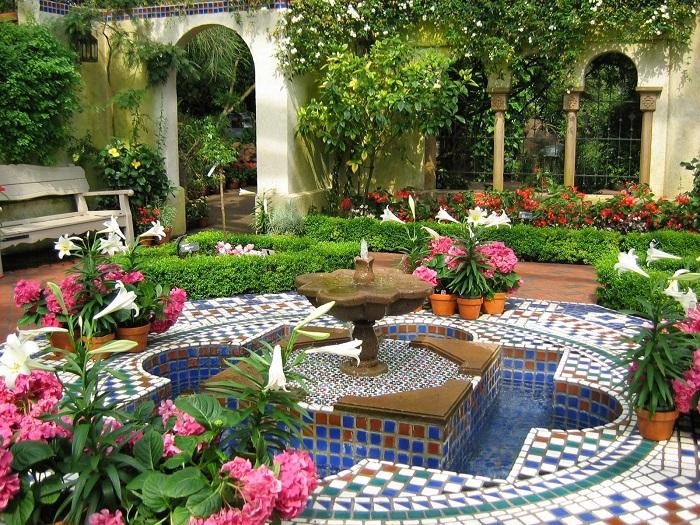 decoración de terrazas y jardines árabes