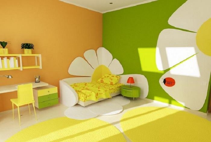 decoración de una habitación infantil de niña
