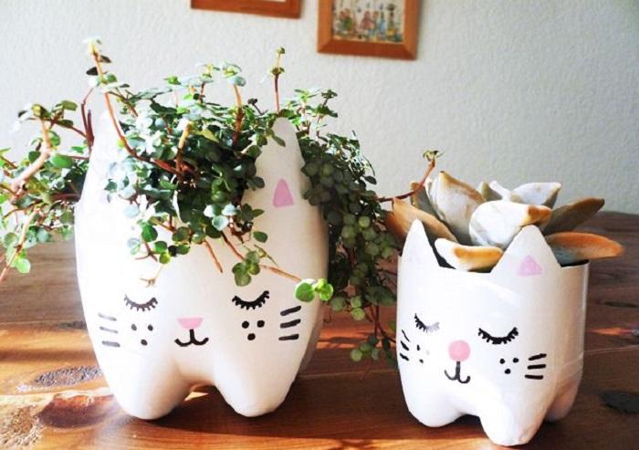 macetas reciclables unas manualidades para decorar una casa