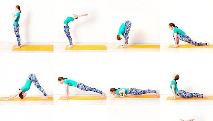 yoga para adelgazar Surya Namaskar